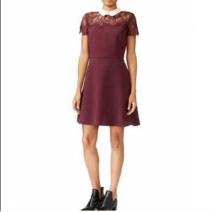 Maison Jules Fit and Flare Dress Peter Pan Collar